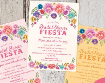 Mexican Fiesta Spanish Style DIY Printable Digital PDF JPEG File