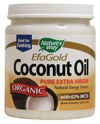 Nature's Way EfaGold. Organic, Pure Extra Virgin Coconut Oil, 32-Ounce Jar $17.94   Amazing stuff!
