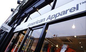 An American Apparel shop in Curtain Road, London