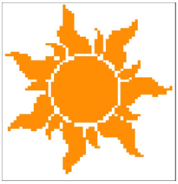 Tangled Sun Symbol Crochet Graph By Muttix Craftsy Tangled Sun Crochet Graphing