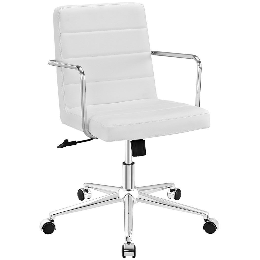 Cavalier mid back office chair in white white office