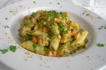 Curryrahm-Nudeln mit Hackfleisch von GoldDrache | Chefkoch