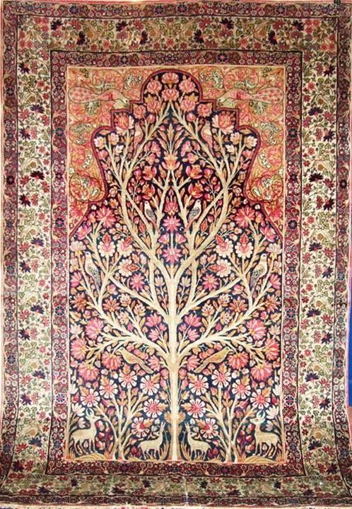 قالی کرمان محرابی درختی درخت زندگی Kerman S Carpet Antique Persian Carpet Persian Carpet Rugs