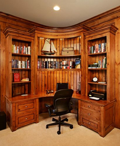 Basement Home Office: Traditional Home Office Photos Basement Design, Pictures