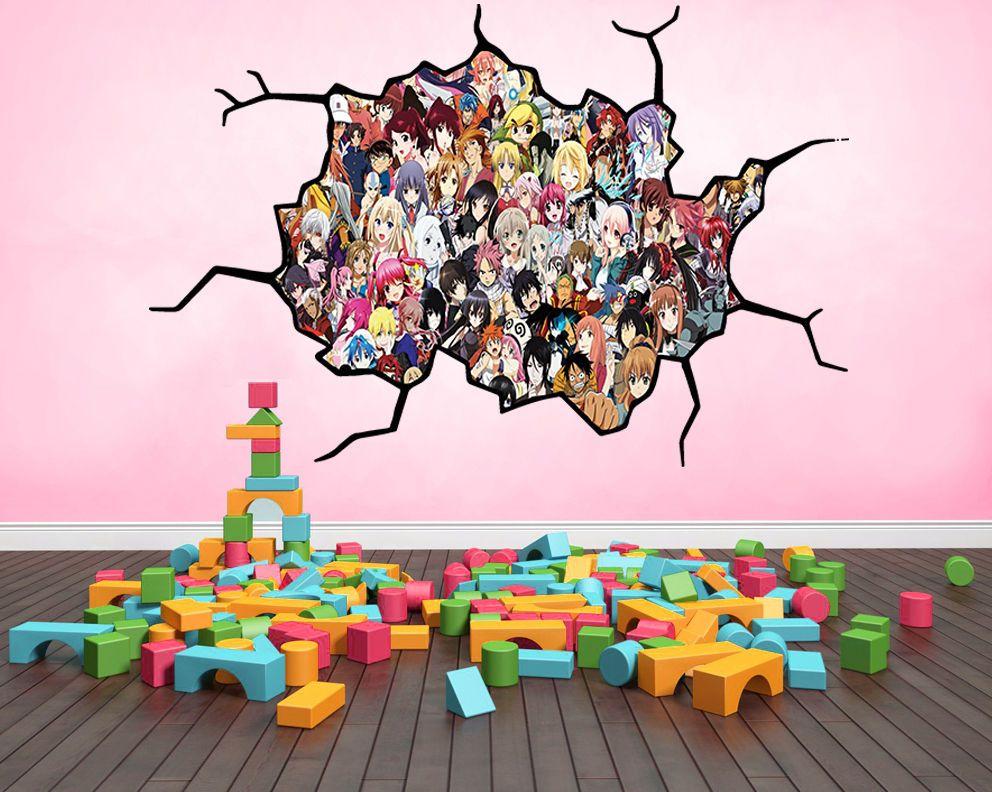 wall decal http//www.ebay.co.uk/itm/AnimeCharacters