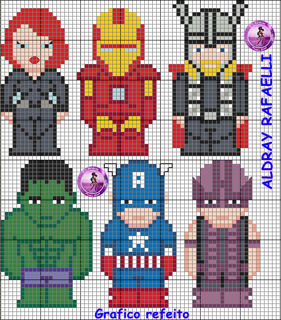 Avengers perler bead pattern - Drayzinha I bet it would be easy to change it to a plastic canvas pattern