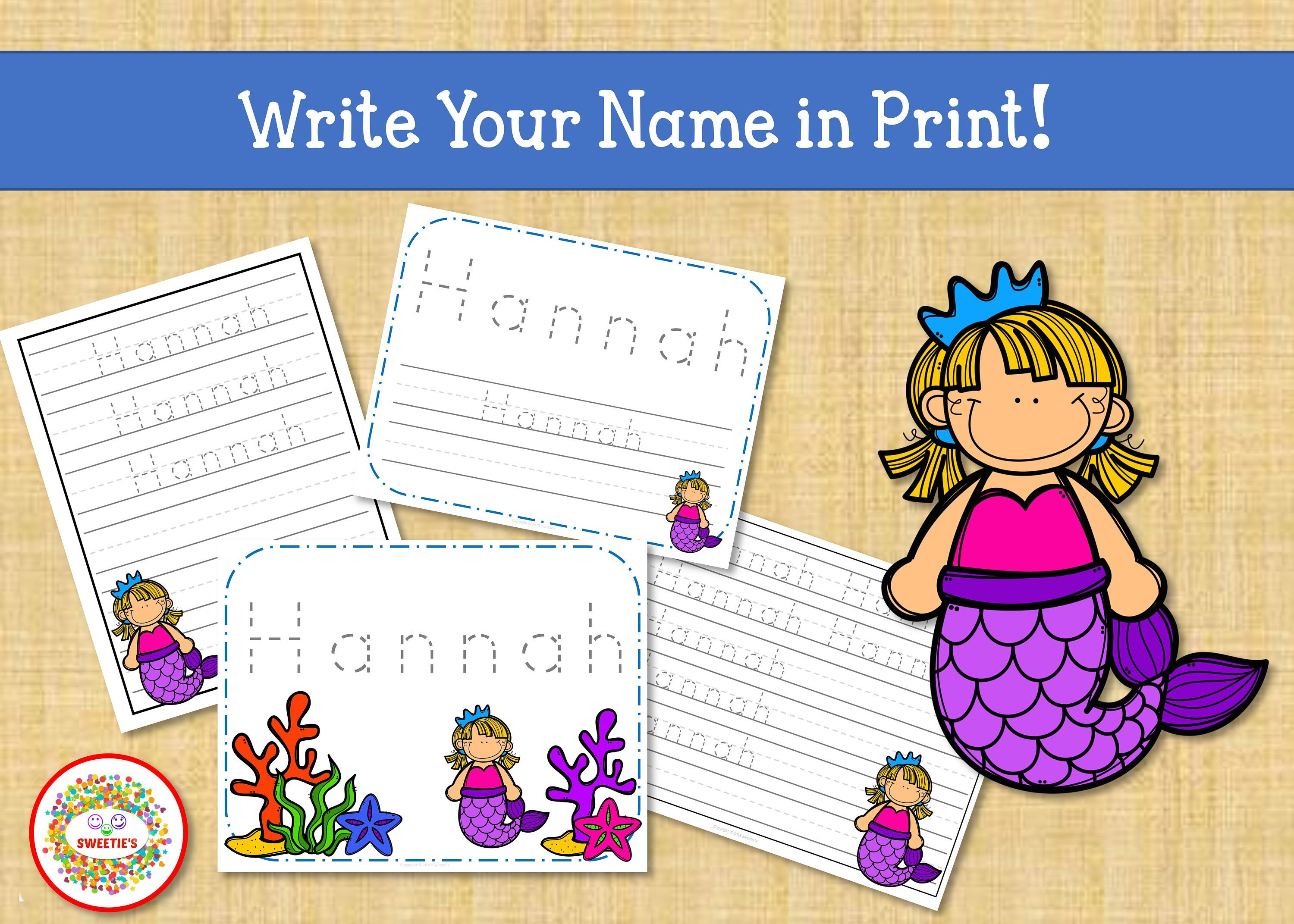 Name Tracing Handwriting Worksheet Personalized Name