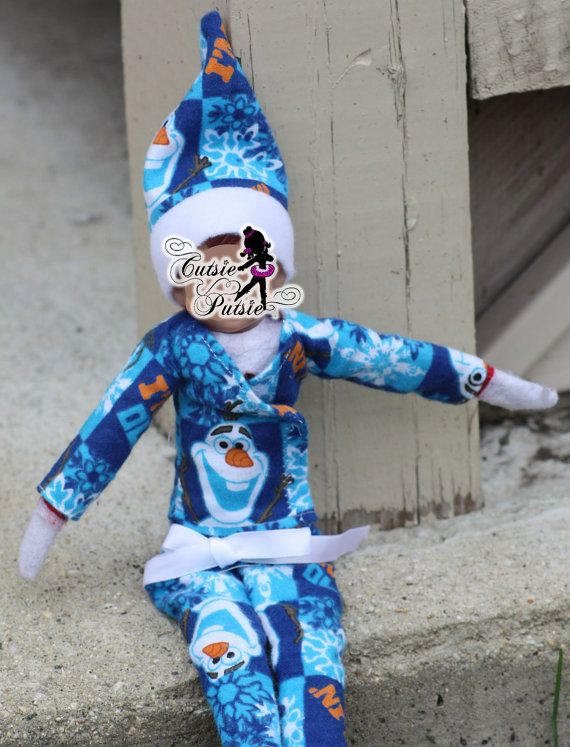 Elf Pajama Set   Olaf Pajamas  Christmas Elf by CutsiePutsie
