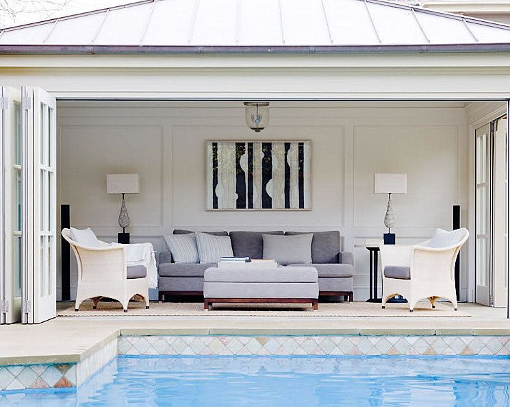 A Blog About A Country House And Garden Interior Design Art Black And White Photography And Lots Of Other Beautifu Pool House Designs Pool House Pool Houses