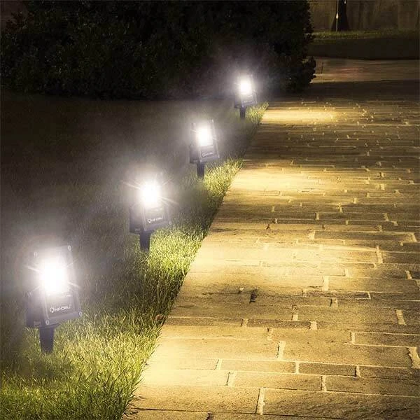 12w Led Low Voltage Landscape Spotlights Ip66 Waterproof Outdoor Garden Lights Onforu Landscape Spotlights Outdoor Garden Lighting Outdoor Landscape Lighting