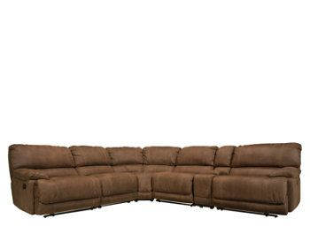 Corona 6 Pc Microfiber Power Reclining Sectional Sofa