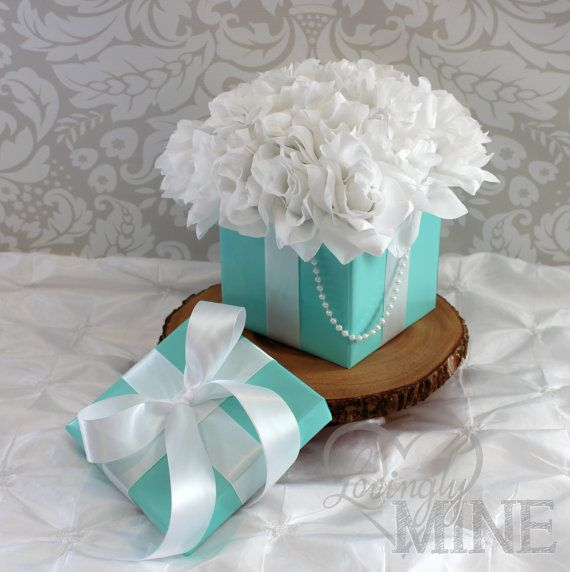 tiffany co inspired centerpiece box with lid and pearls with rh nl pinterest com