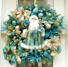 christmas decorations in turquoise - Google Search | Gold / Aqua ...