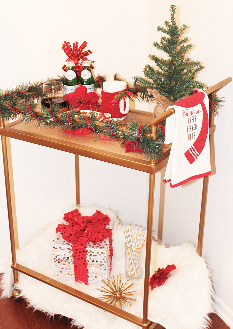 Christmas Bar Cart Styling | The InfluenceHer Collective | Pinterest ...
