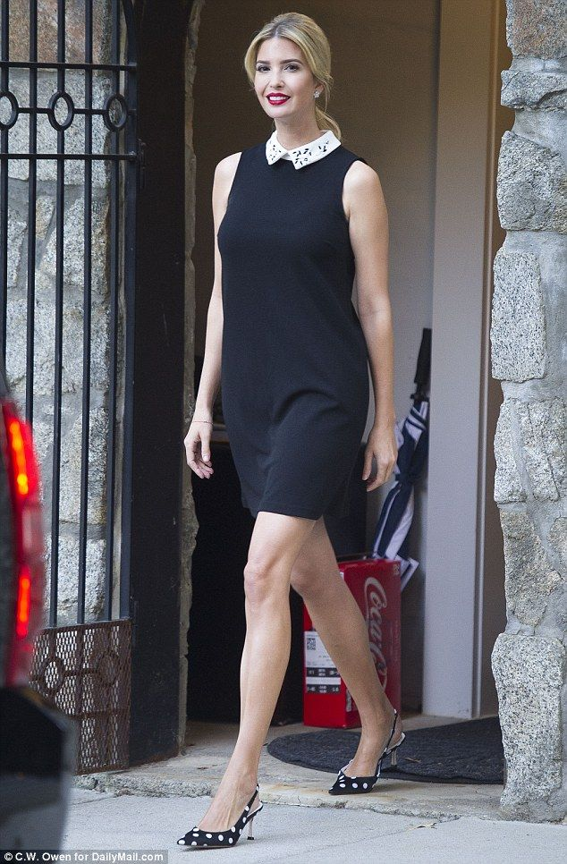 5afce398 Ivanka Trump was pictured heading into the office in Washington, D.C. on  Mon.