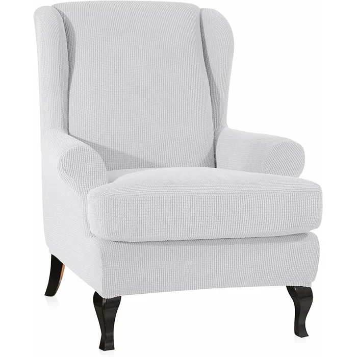Stretch Box Cushion Wingback Chair Slipcover in 2020