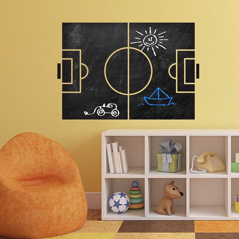 Vinilos Decorativos Pizarra Futbol Pizarra Vinilo Decoracion - Pizarra-decoracion-pared