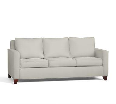 Cameron Square Arm Upholstered Sleeper Sofa, Polyester Wrapped Cushions, Basketweave Slub Oatmeal
