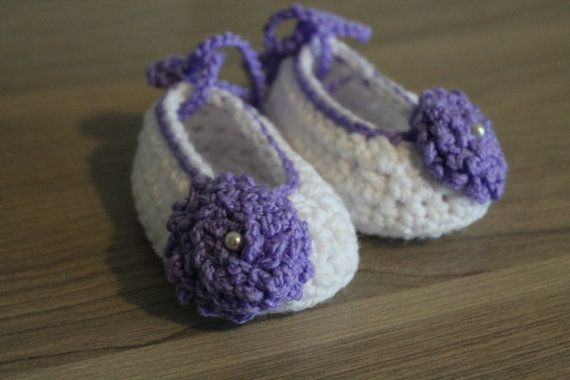 Baby Girl Crochet Ballerinas Size 3-6 Months by MucaBoutiqueVanCity, $16.00