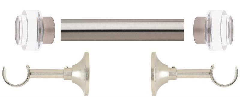 Select Acrylic Aries 1 3 16 Metal Curtain Rod Set