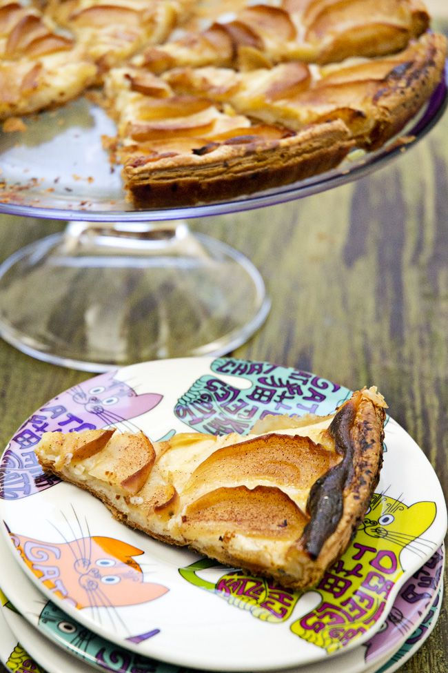 Tarta De Manzana Con Crema Pastelera Receta Tarta De Manzana Tartas Manzana