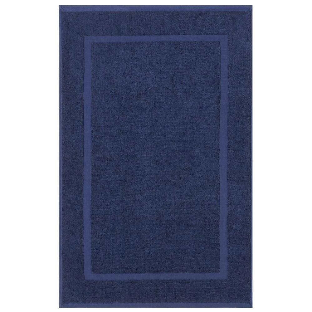 Newport Navy (Blue) 20 in. x 34 in. Egyptian Cotton Bath Mat ...