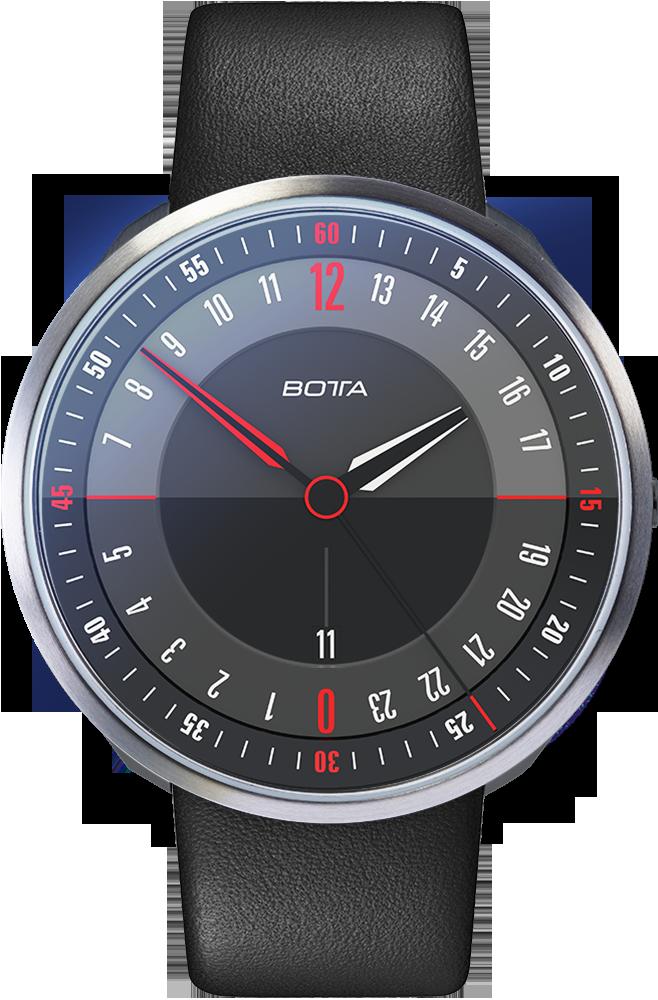 24 Stunden Uhr Botta 24 Schwarz Quarz Watch Design Botta Design Botta Design Watch