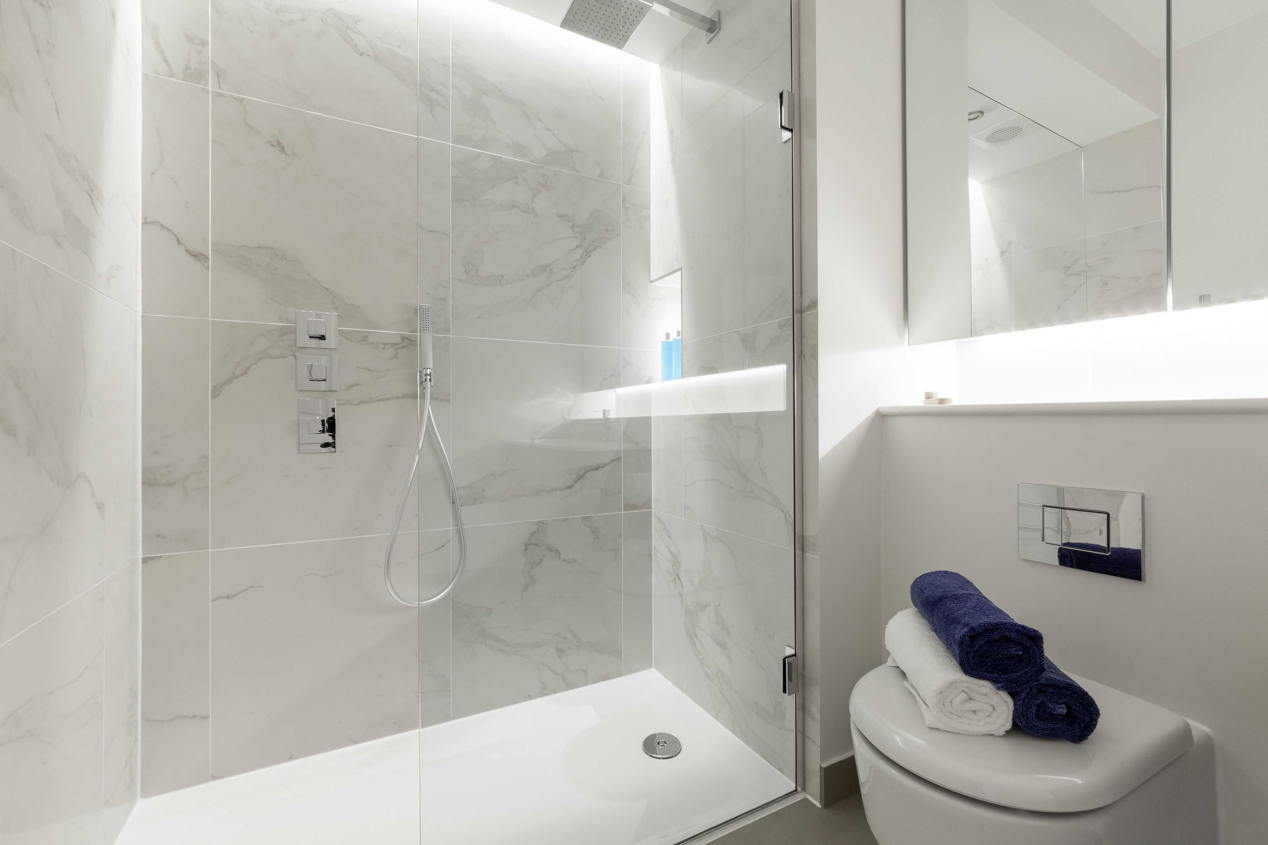 Duomo White Marble Effect Porcelain Tiles From The Stone Ceramic Warehouse Bathroom Bathroomideas Bathro White Floors Bathroom Inspiration Bathroom Decor