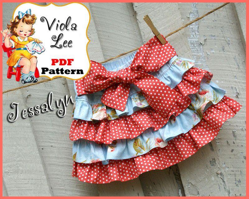 Jessalyn Toddler Skirt Pattern. Girls Skirt Pattern