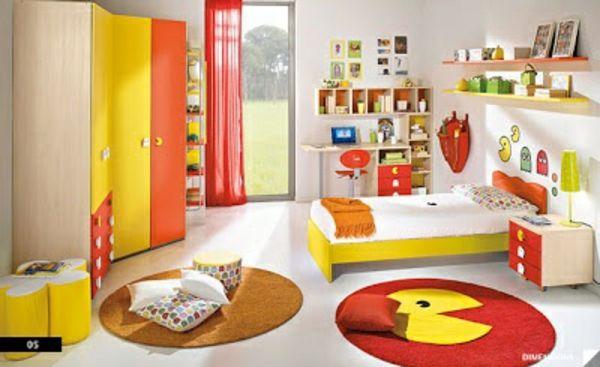 idee kinderzimmer gestaltung gelb orange Kinderzimmer - moderne kinderzimmergestaltung idee