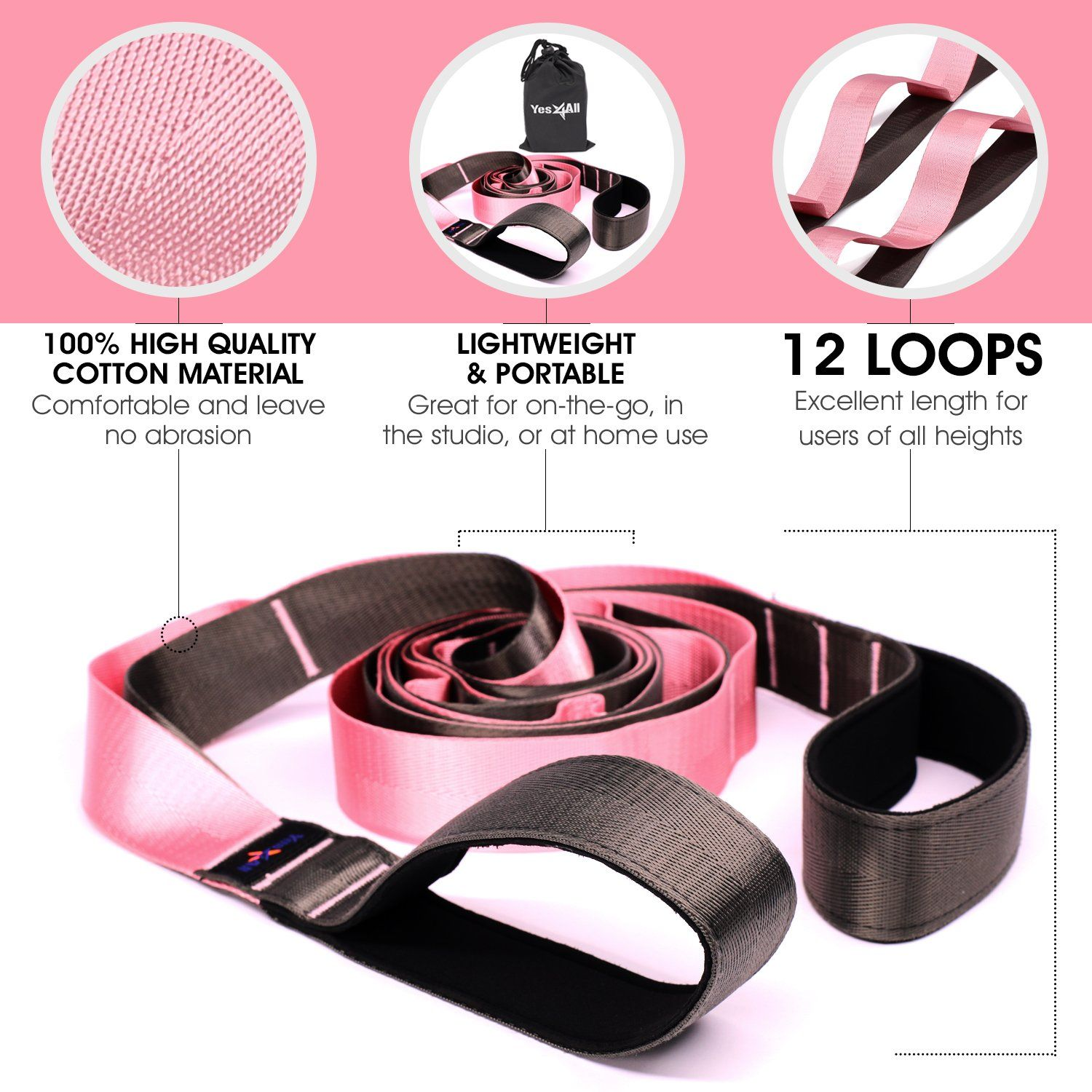 Yes4all Yoga Stretch Strap Loops â Stretch Out Strapexercise Yoga