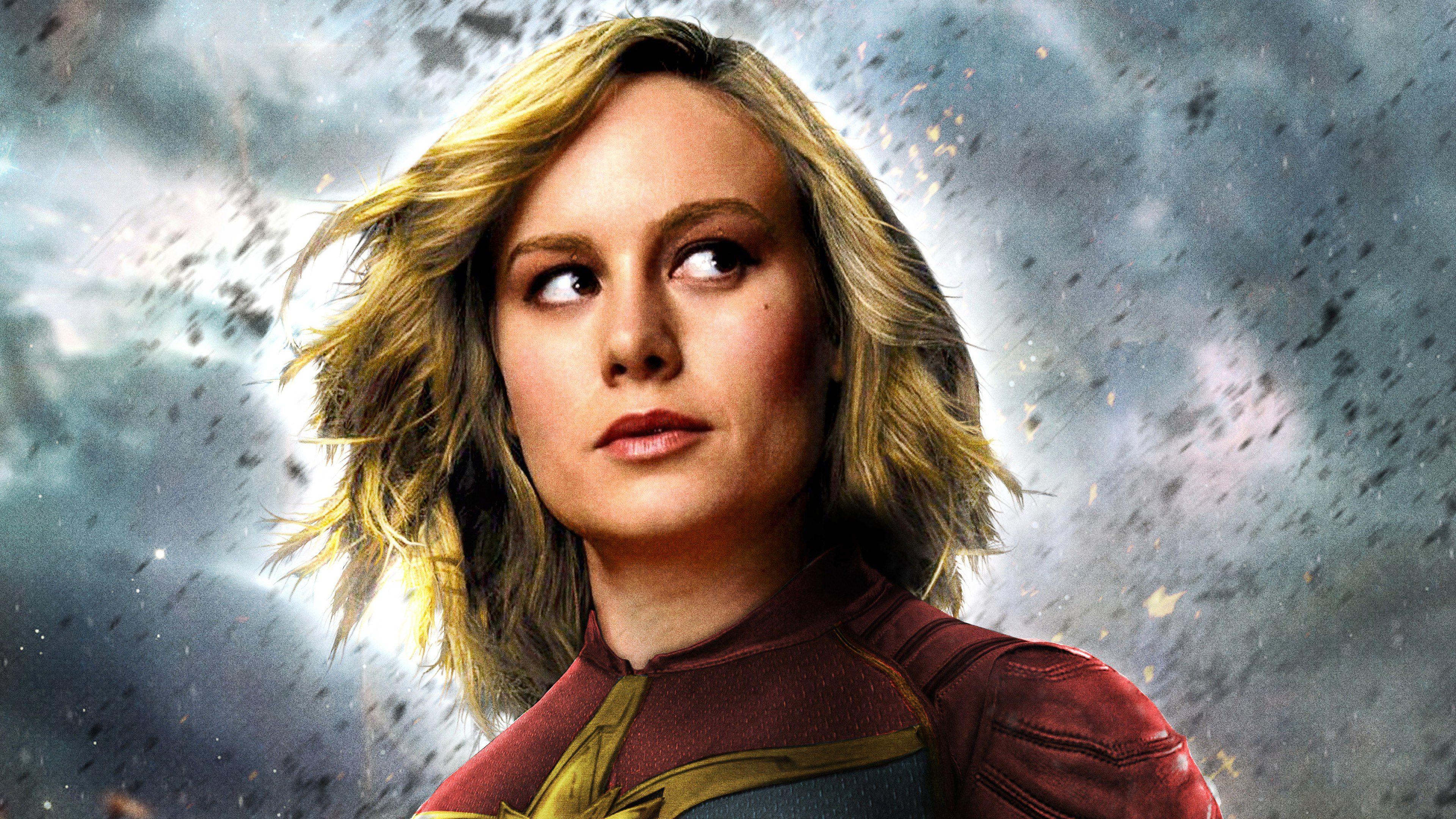Captain Marvel Movie 2019 Brie Larson As Carol Danvers 4k Wallpaper Captain Marvel Movie 2019 Captain Marvel Captain Marvel Marvel 4k Captain Marvel Trailer