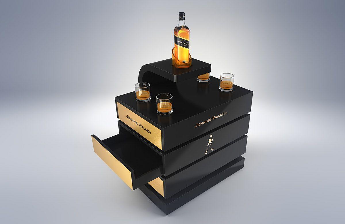 Johnnie Walker Furniture On Behance Wine Display Bar Counter