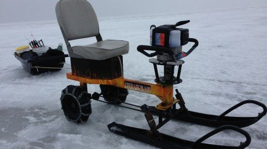 Dedicated winter anglers will travel long distances across for Go ice fish