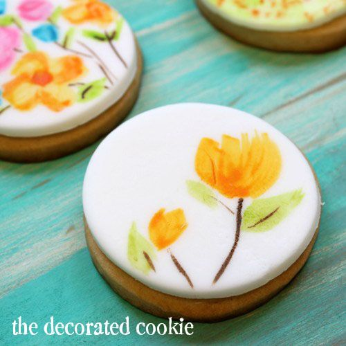 watercolor painted cookies and cupcakes | Royal icing, Fondant and ...