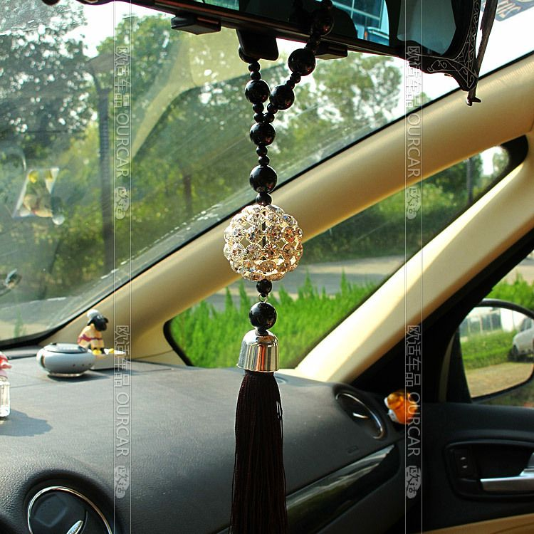 Car Pendant Crystal Hangings Accessories Rearview Mirror Hanging Cute