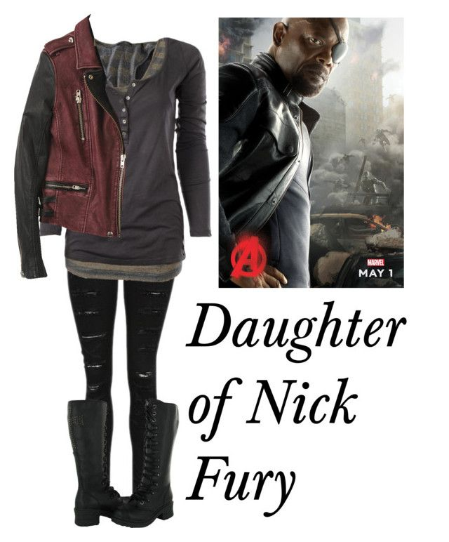 """Daughter of Nick Fury"" by wolfey201 ❤ liked on Polyvore featuring Maison Scotch, marvel, nickfury and mcu"
