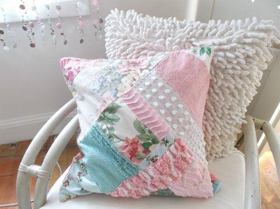 shabby chic cottage vintage fabric pillow polster pillows pinterest kissen. Black Bedroom Furniture Sets. Home Design Ideas