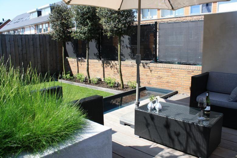 Knap ontwerp kleine tuin 1c altaner terasser pinterest for Terasse ontwerp