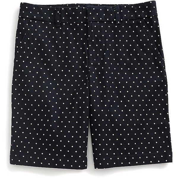 "Tommy Hilfiger 9.5"" Pique Dot Short (€35) ❤ liked on Polyvore featuring tommy hilfiger"