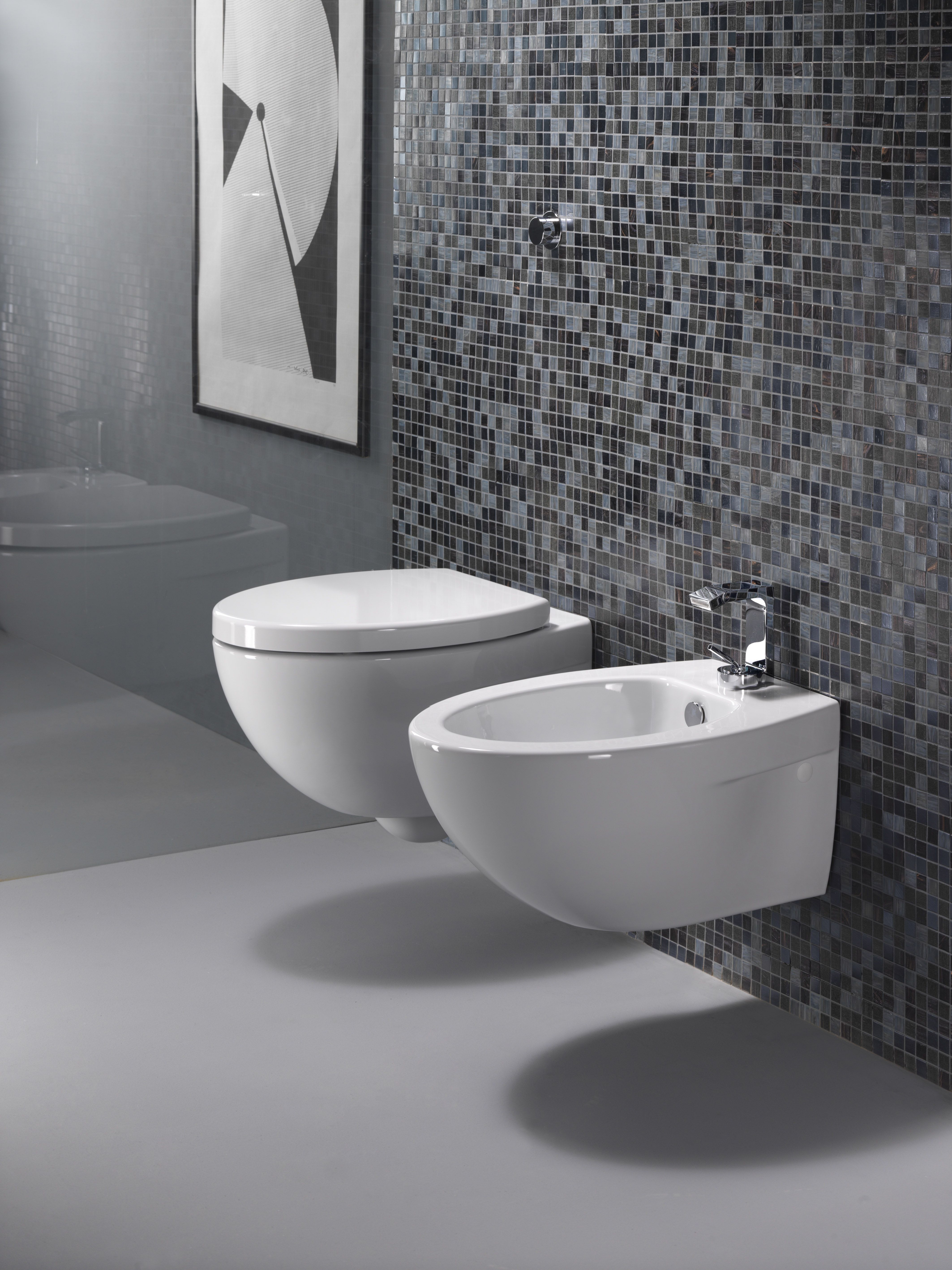GSI ceramic | Soft and cosy lines with perfect volumetric and ... - Modo wall-hung wc and bidet