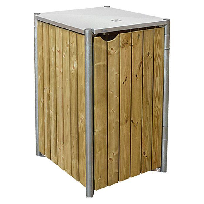 Hide Mulltonnenbox Verkleidung Wood Cover Passend Fur Hide Mulltonnenbox Gestell 240 L Aufbewahrung Garten Gerateschuppen Holz Geratehaus Holz