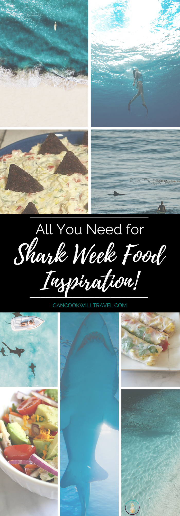 Shark Week Food Ideas & Inspiration #sharkweekfood I love Summer and one of my favorite parts is Shark Week. So I'm sharing Shark Week Food, fun crafty recipes, those with a subtle ocean vibe, and cool shark products! #sharkweek #sharkweekfood #sharkthemerecipes #sharkweekfood