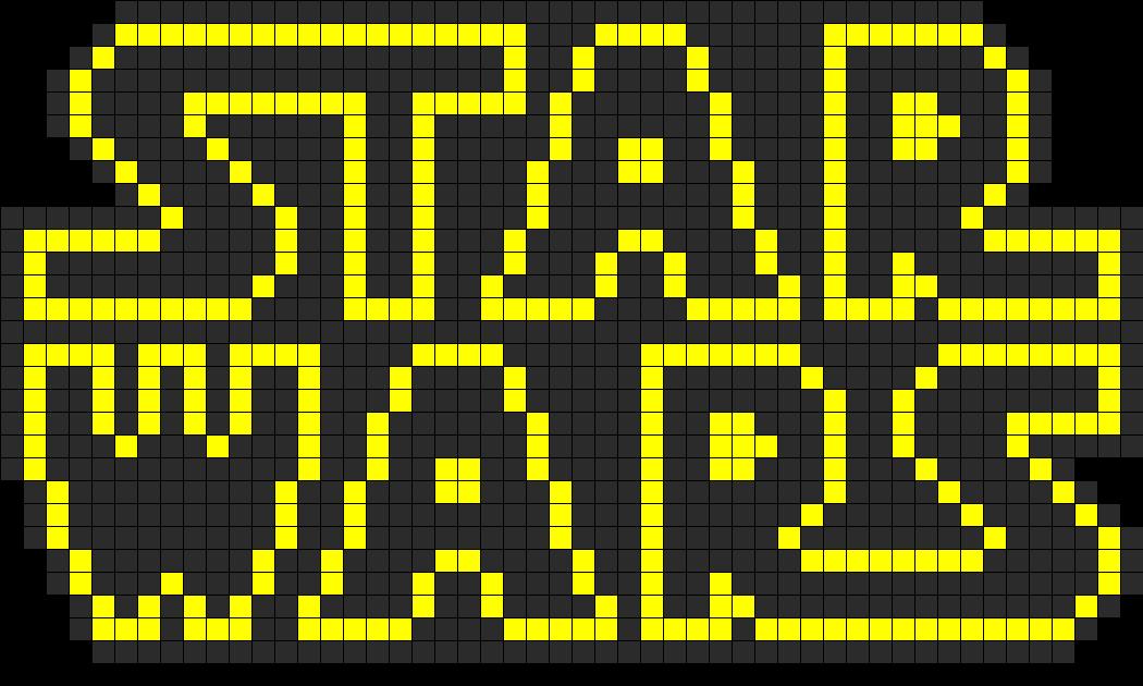 Star Wars Logo Perler Bead Pattern Bead Sprites Misc