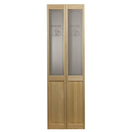 Ltl Home Products Inc Awc 647 Pantry Glass 32 Inch X 80 5 Inch Unfinished Bifold Door Brown In 2020 Bifold Door Hardware Glass Barn Doors Kitchen Pantry Doors