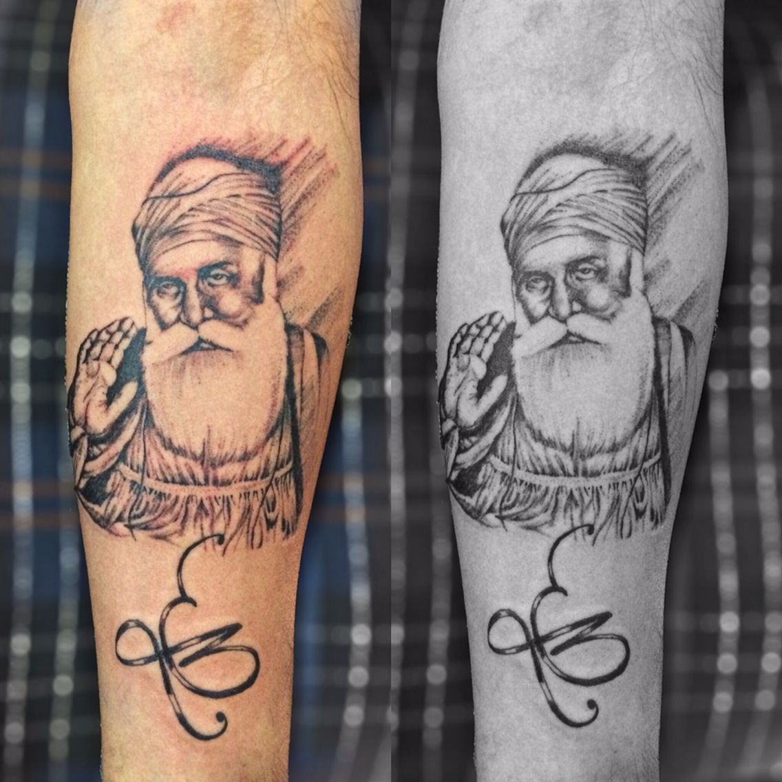 sikh tattoo guru gobind singh tattoo by pranay shah religious tattoos pinterest guru. Black Bedroom Furniture Sets. Home Design Ideas