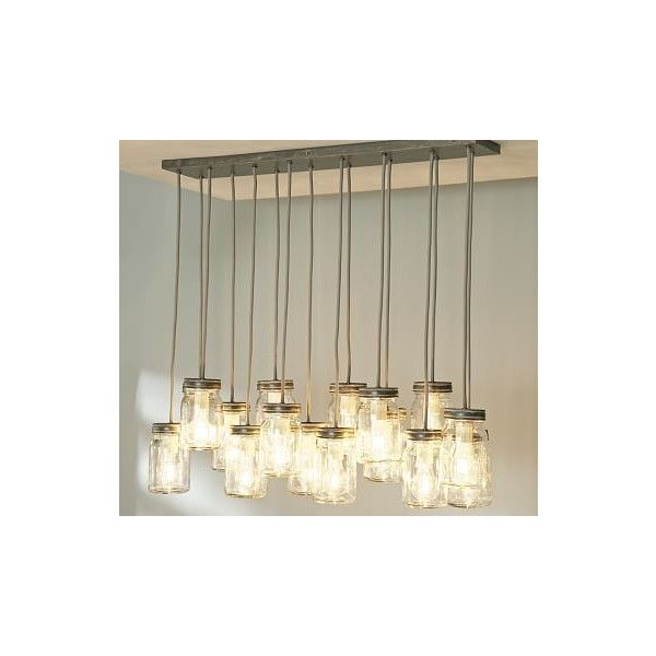 pottery barn exeter 16-jar pendant, galvanized metal finish ($399