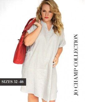 Jo Champ Linen Dress - sizes 32-44 www.getthis.co.za