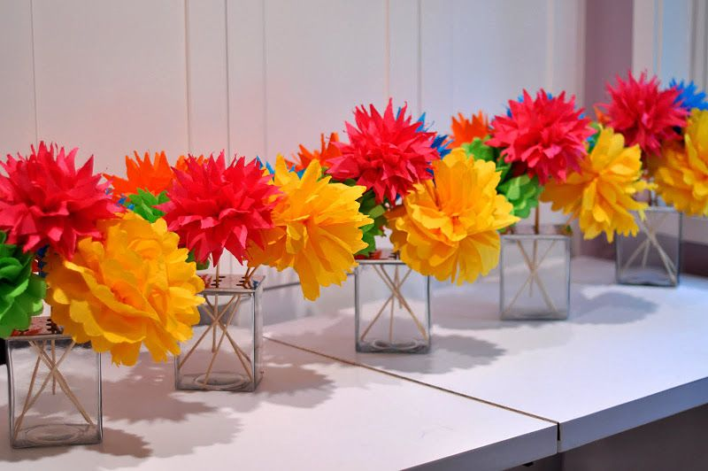 Diy mexican fiesta flower bouquets i can do it myselfi can i how to make tissue paper flowers aesthetic nest craft flirty fiesta flower bouquets engagement party mightylinksfo
