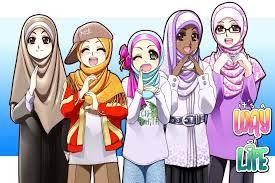 Muslimah Pinterest Gambar Kartun Anak Muslim
